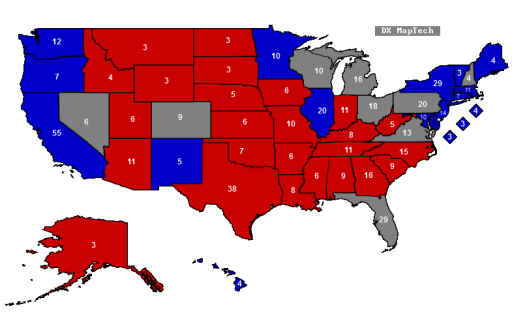 Despite Media Hype No Bounce For Obama In Swing States Pumas - Map of swing states in the us